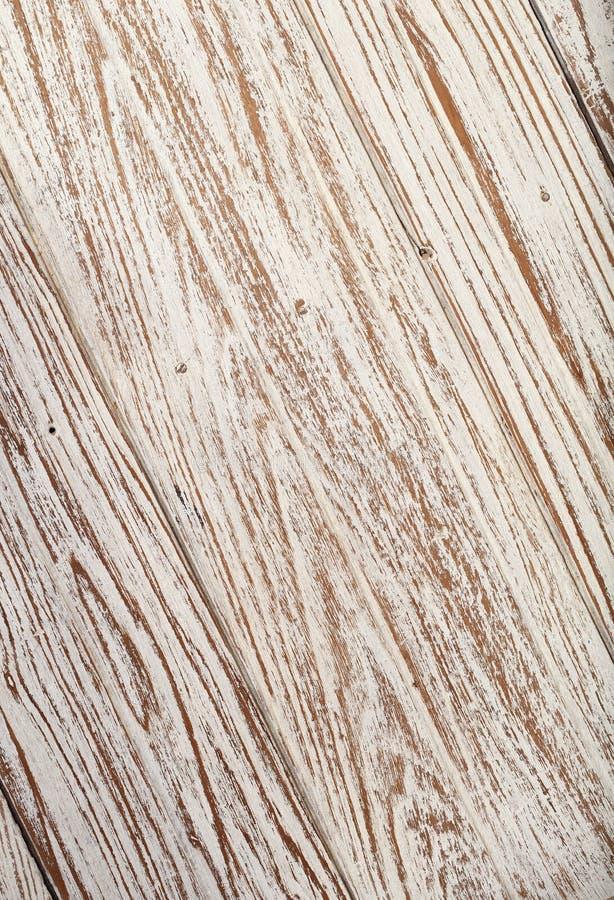 Papel pintado blanco de la textura del fondo del color de la teca de madera vieja imagenes de archivo