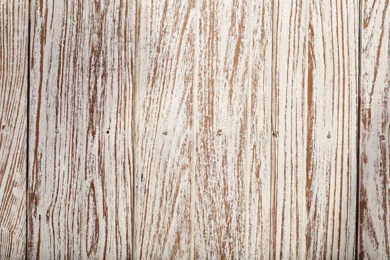 Papel pintado blanco de la textura del fondo del color de la teca de madera vieja fotos de archivo libres de regalías