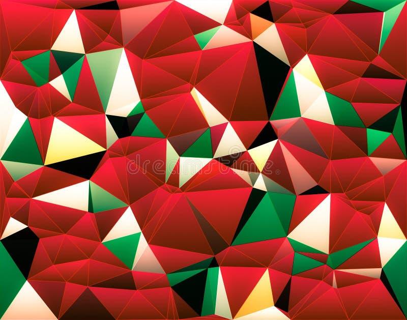 Papel pintado blanco rojo verde del color de Navidad de la Navidad abstracta stock de ilustración