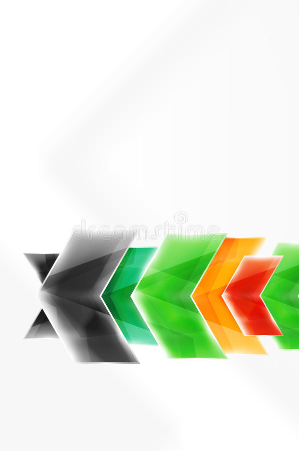 Papel pintado brillante de la flecha ilustración del vector
