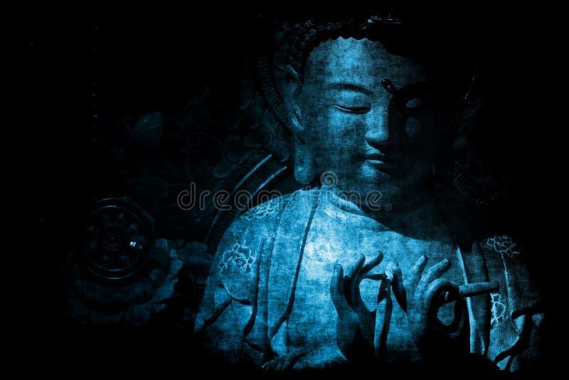 Papel pintado chino del fondo del extracto del templo ilustración del vector