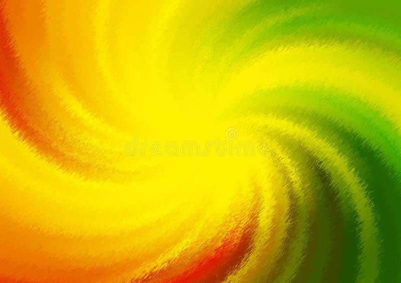 Papel pintado coloreado espiral de la pendiente del fondo ilustración del vector