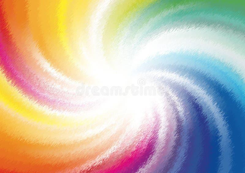 Papel pintado coloreado espiral de la pendiente del fondo stock de ilustración