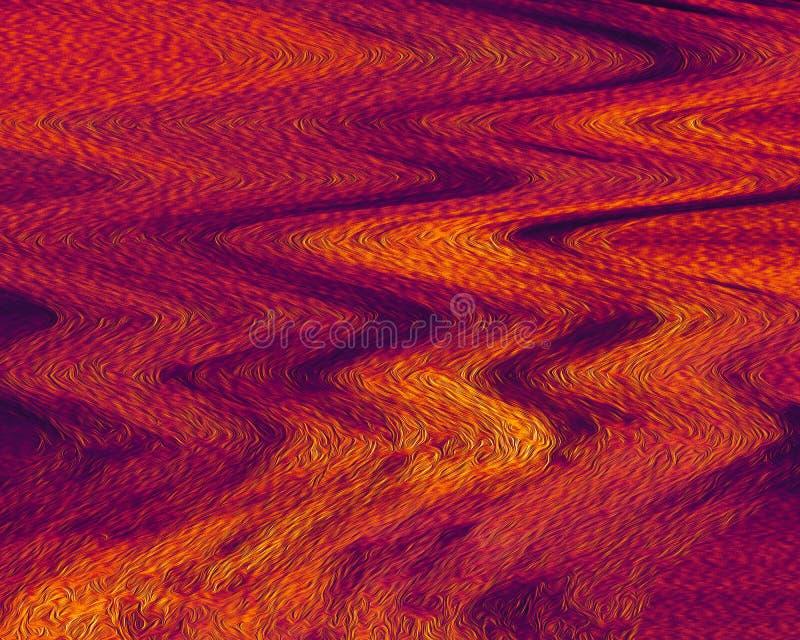 Papel pintado con la superficie pintada gruesa Fondo ondulado de la fantasía Cepille el arte de los movimientos ilustración del vector