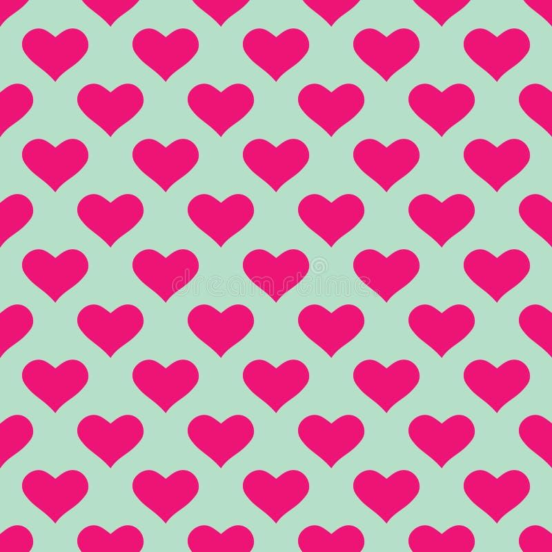 Papel pintado con los corazones rosados ilustración del vector