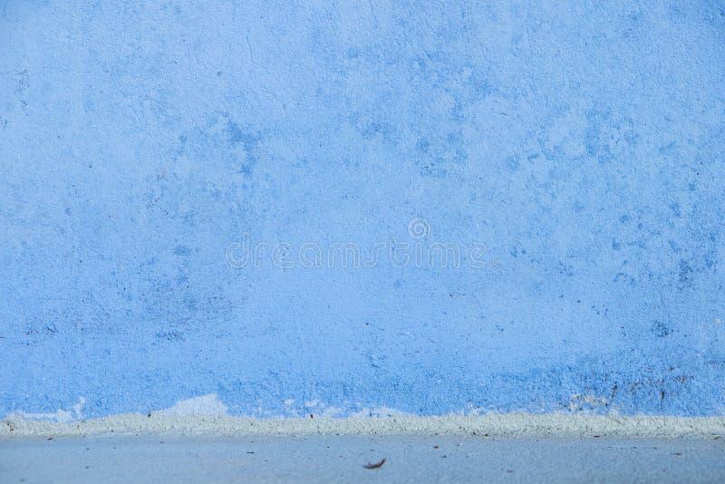 Papel pintado concreto azul con textura de la superficie áspera fotos de archivo