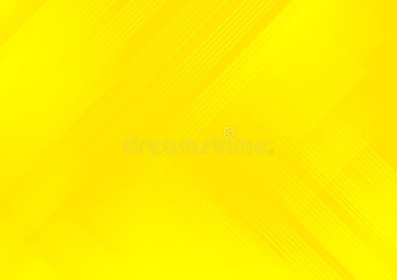Papel pintado cruzado linear amarillo del diseño del modelo ilustración del vector