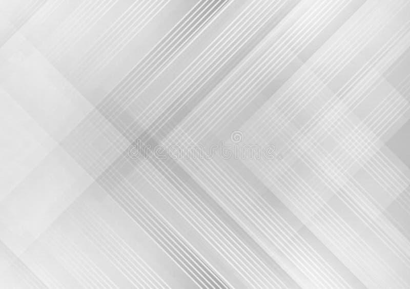 Papel pintado cruzado linear gris del diseño del modelo stock de ilustración