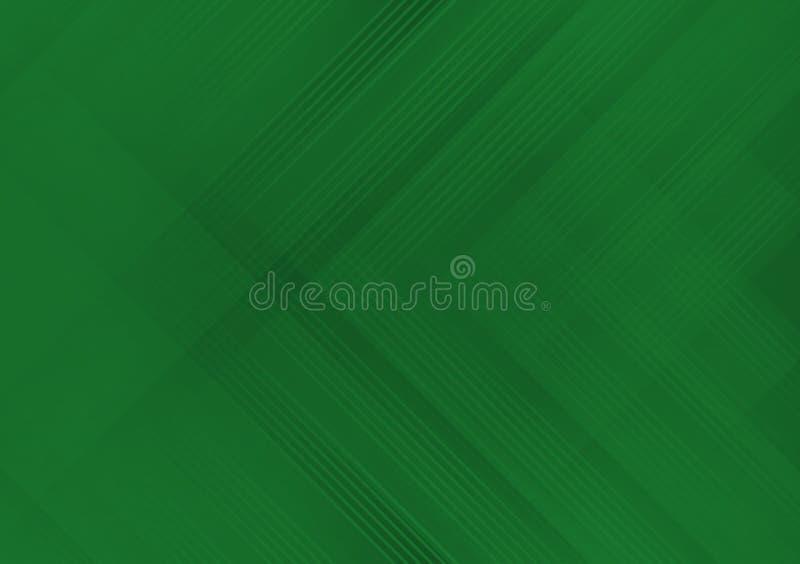 Papel pintado cruzado linear verde del diseño del modelo ilustración del vector