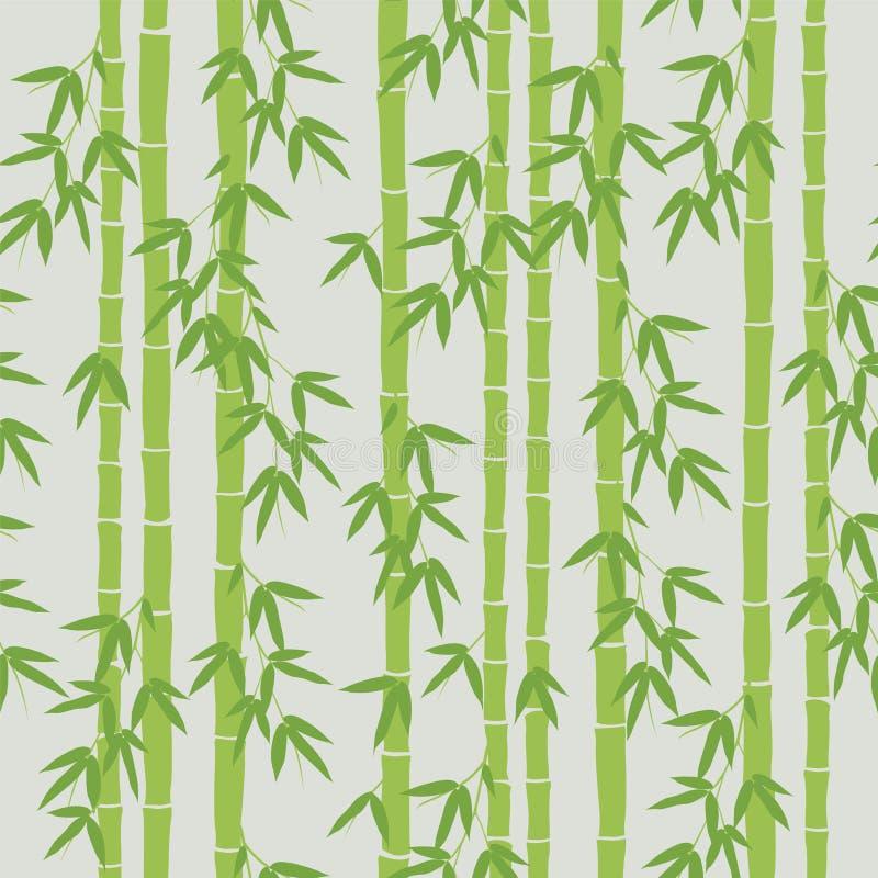 Papel pintado de bambú inconsútil stock de ilustración