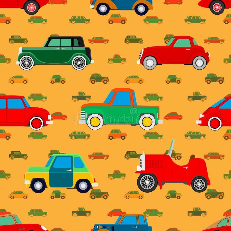 Papel pintado de coches stock de ilustración