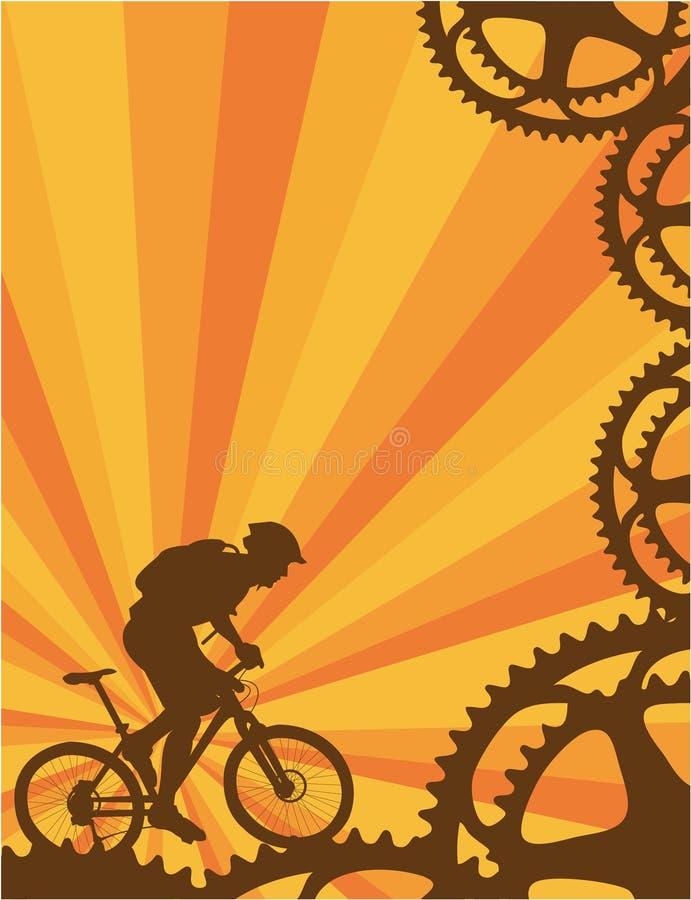 Papel pintado de la bici de montaña ilustración del vector
