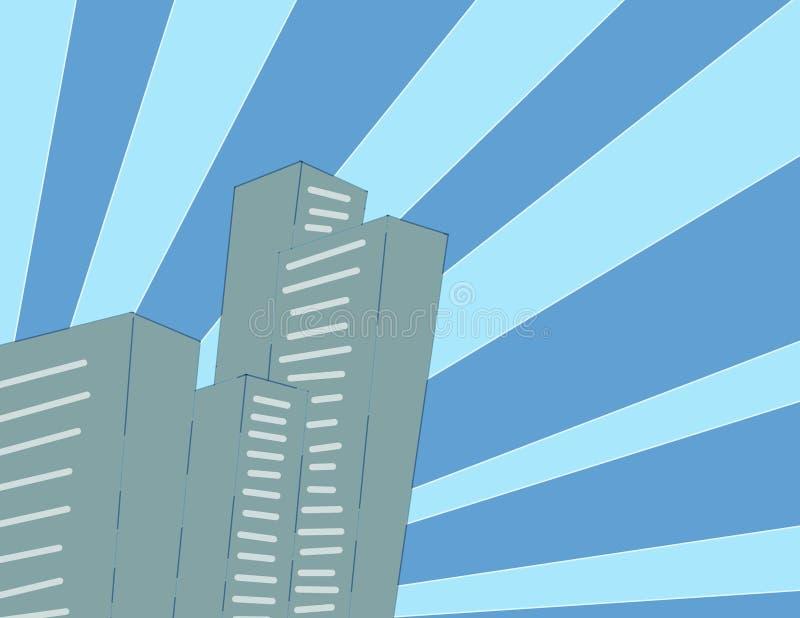 Papel pintado de la ciudad de la historieta fotos de archivo libres de regalías