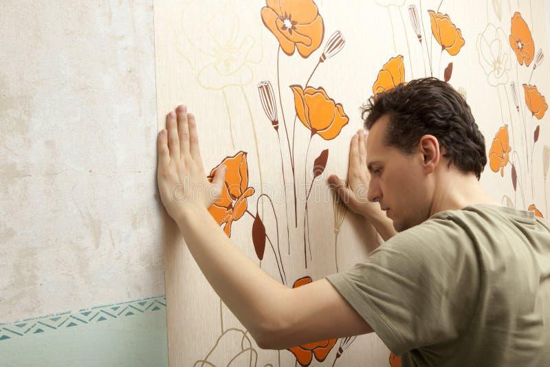 Papel pintado de la ejecución del decorador fotografía de archivo libre de regalías