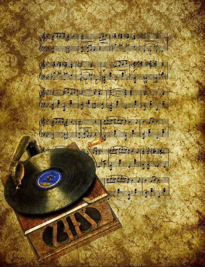 Papel pintado de la música ilustración del vector