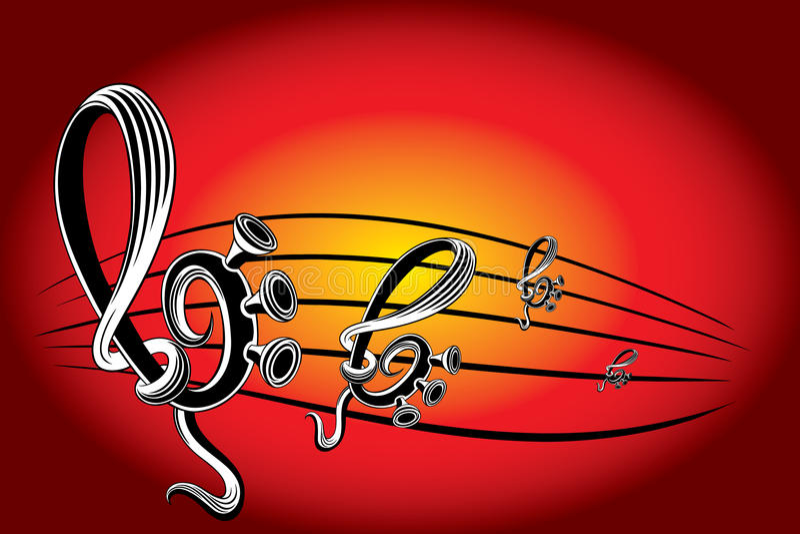 Papel pintado de la música moderna ilustración del vector