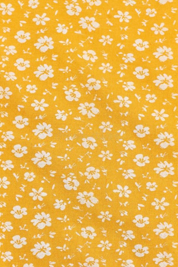 Papel pintado de la materia textil en impresión floral imágenes de archivo libres de regalías