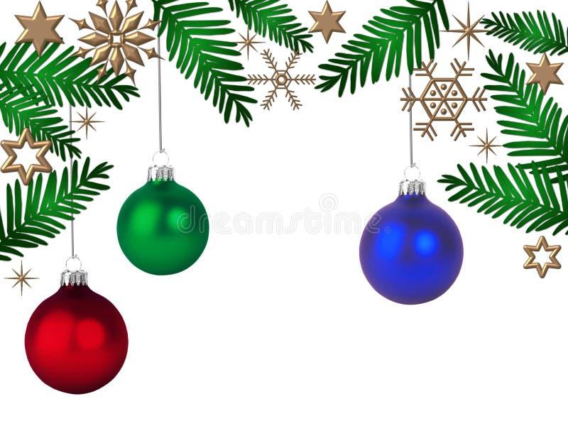 Download Papel Pintado De La Navidad Stock de ilustración - Ilustración de snowflakes, ornamentos: 7278831