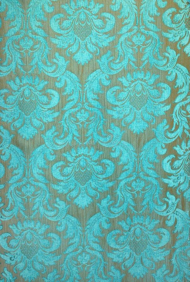 papel pintado de la tela de la turquesa imagen de archivo