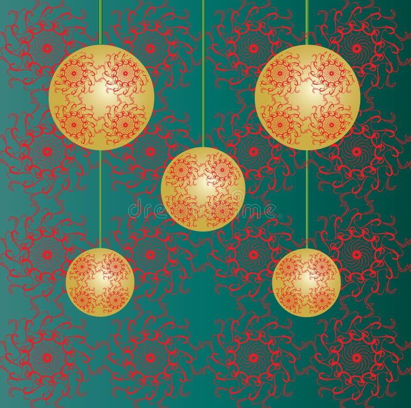 Papel pintado de las chucherías de la Navidad stock de ilustración
