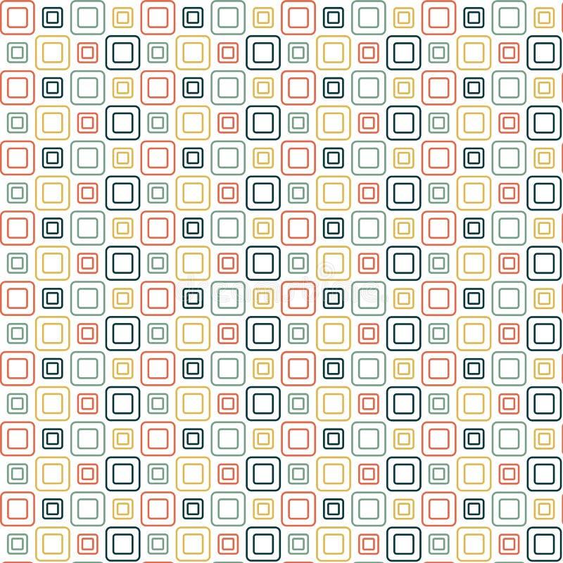 Papel pintado de los cuadrados ilustración del vector