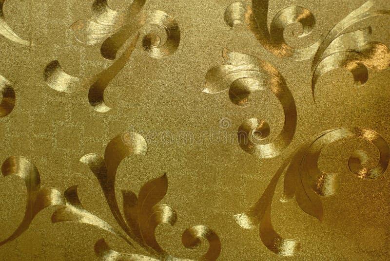 Papel pintado de oro imagen de archivo