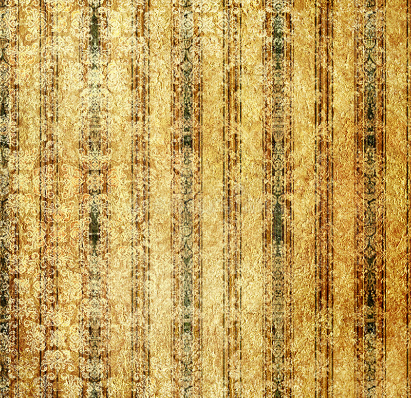 Papel pintado de oro de la vendimia stock de ilustración