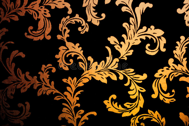 Papel pintado de oro del damasco stock de ilustración