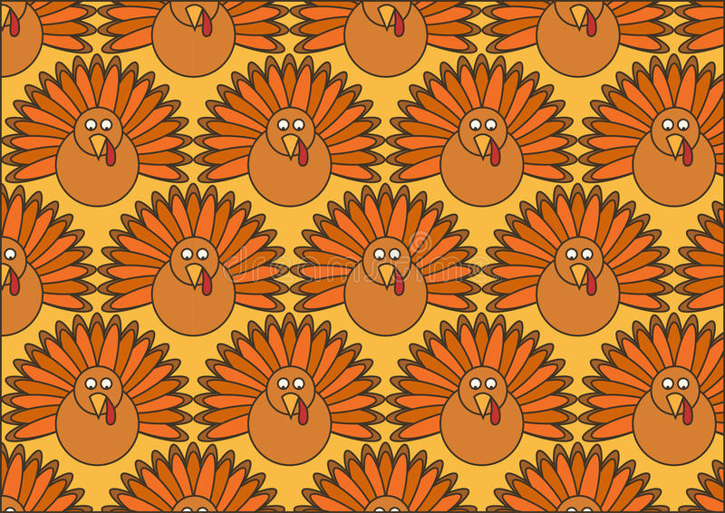Papel pintado de Turquía ilustración del vector