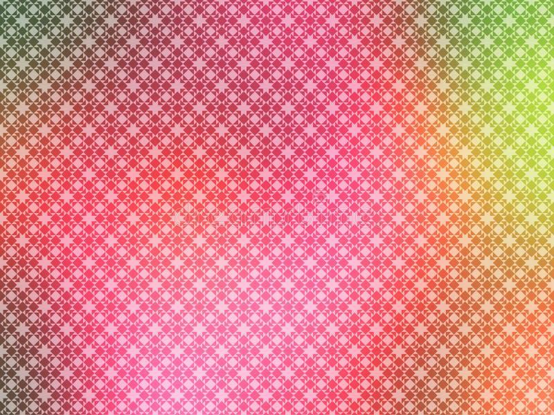 Papel pintado del amarillo del verde del color de rosa caliente ilustración del vector