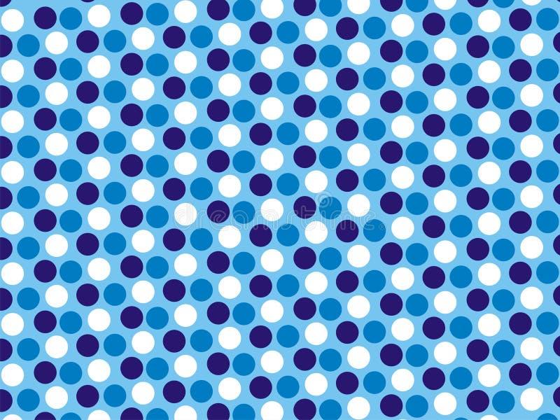 Papel pintado del azul de los colores del arte 3 de Polcadot imágenes de archivo libres de regalías