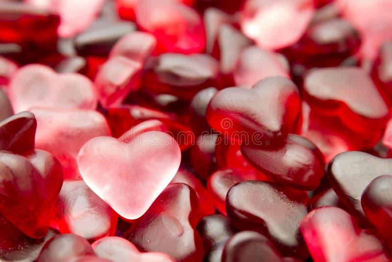 Papel pintado del caramelo del corazón foto de archivo