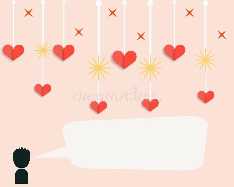 Papel pintado del día de tarjetas del día de San Valentín foto de archivo