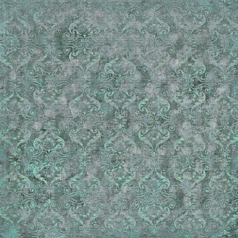 Papel pintado del damasco de la vendimia fotos de archivo