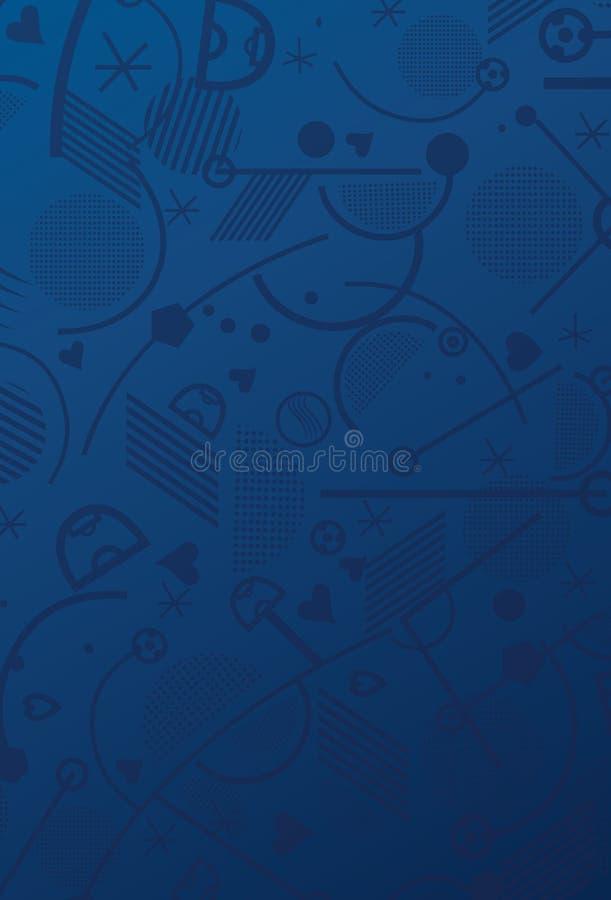 Papel pintado del fútbol 2016 ilustración del vector