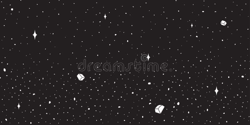 Papel pintado del fondo del cielo nocturno del planeta de la estrella del espacio exterior del vector ilustración del vector