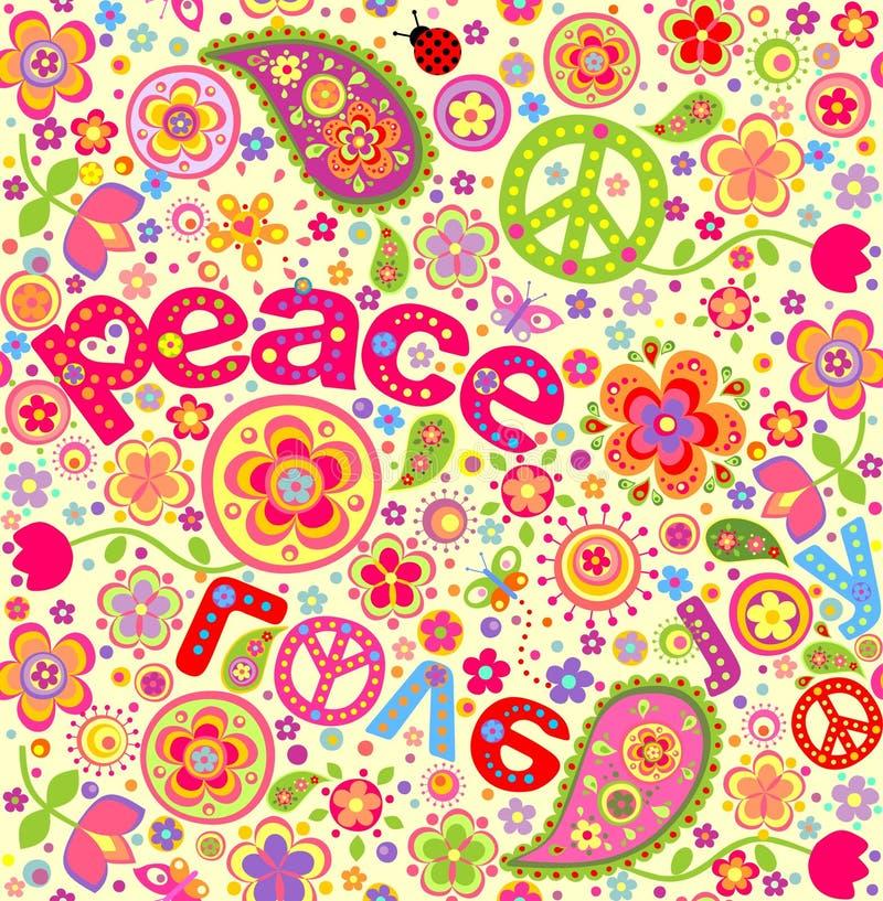 Papel pintado del hippie imagenes de archivo