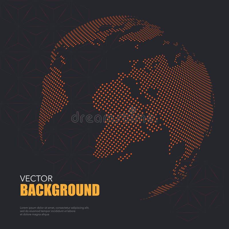 Papel pintado del mapa del mundo libre illustration