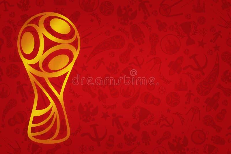 Papel pintado del mundial 2018 - torneo del fútbol del mundo en R stock de ilustración