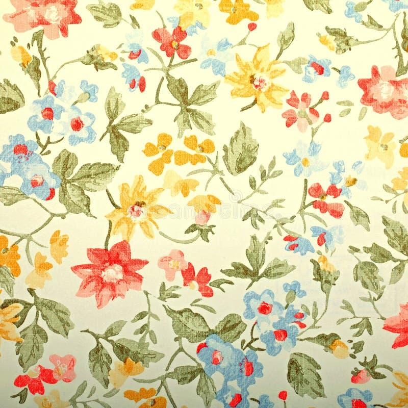 Papel pintado del provance del vintage con el estampado de flores imagen de archivo