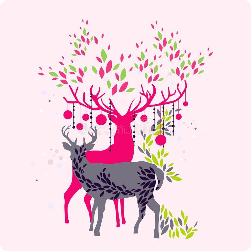 Papel pintado del reno stock de ilustración