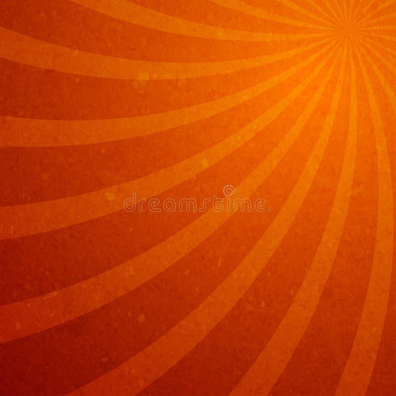 Papel pintado espiral del resplandor solar stock de ilustración