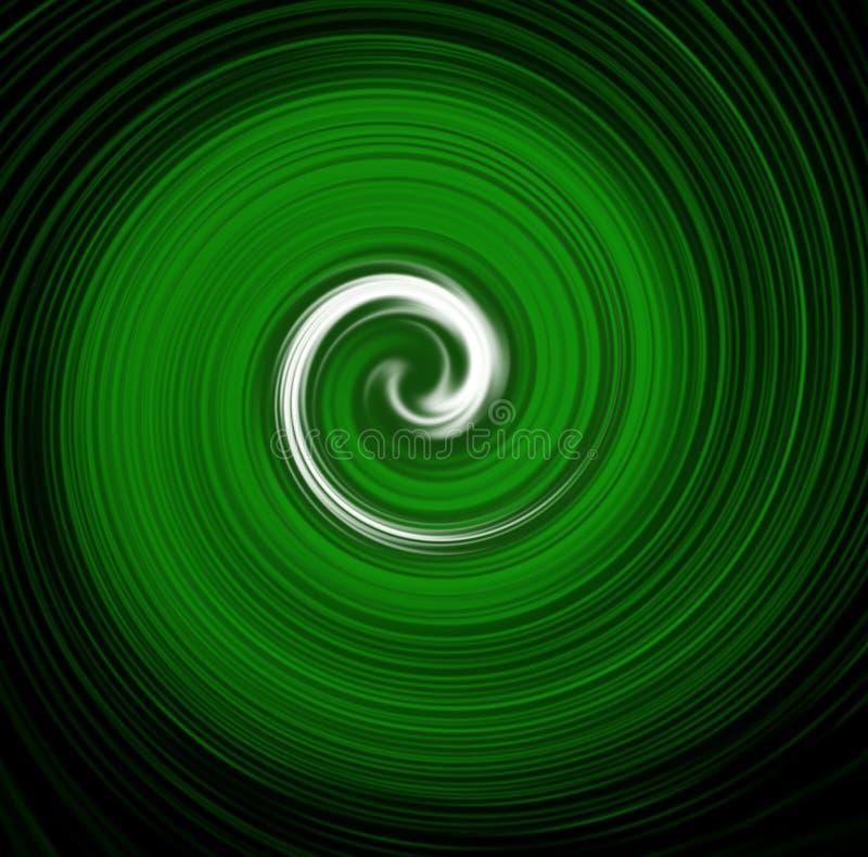 Papel pintado espiral verde ilustración del vector