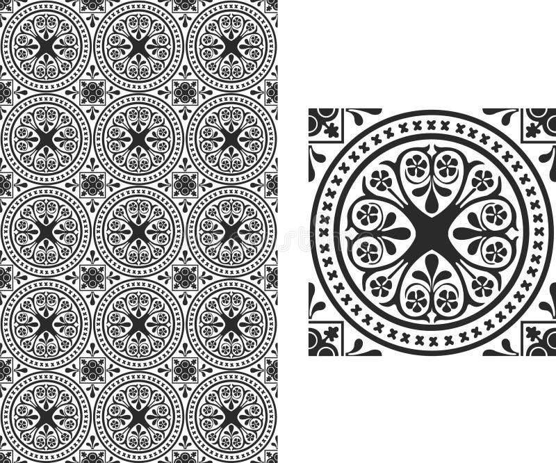 Papel pintado floral stock de ilustración