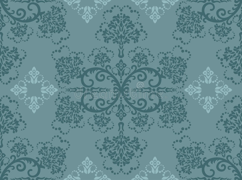 Papel pintado floral de la turquesa inconsútil libre illustration