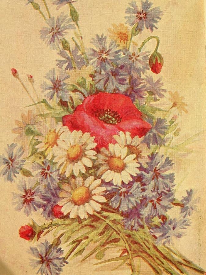 Papel pintado floral de la vendimia imagen de archivo