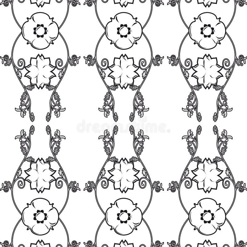 Papel pintado floral de la vendimia libre illustration