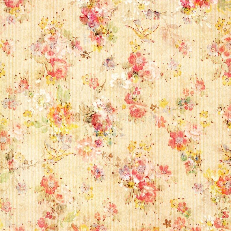 Papel pintado floral de Rose de la antigüedad elegante lamentable de la vendimia fotografía de archivo libre de regalías