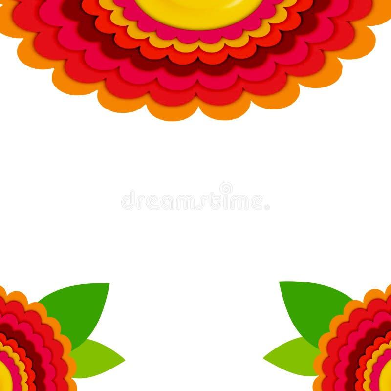 Papel pintado floral del coordenada de la sol del terciopelo 3D de la primavera ilustración del vector