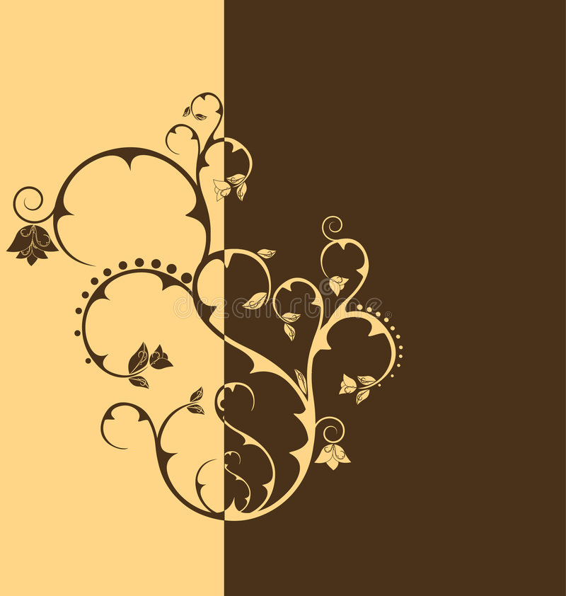 Papel pintado floral del tono del dúo libre illustration
